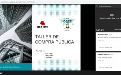 CGCE realiza taller práctico online a los partners de RED HAT sobre los procedimientos de Compras Públicas.
