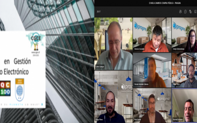 """CGCE continua realizando ciclo de charlas online a nuestros clientes sobre """"CAMBIOS EN LA COMPRA PÚBLICA"""""""